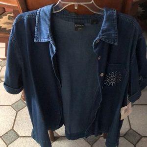 Adorable Jean Short Sleeve Shirt